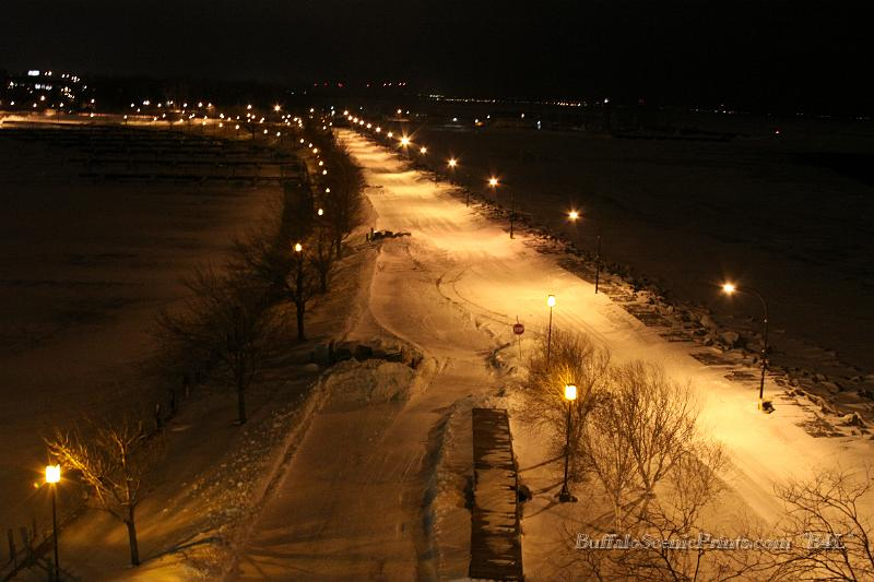 City in the Snow - Buffalo, New York - at Night/Day ...